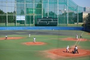 秋季東京都高等学校野球大会「国士舘 − 実践学園」2