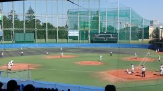 一方的な展開になった、秋季東京都高等学校野球大会「国士舘 − 実践学園」