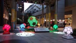 日テレの広場でサッカー演出!5