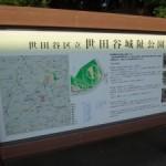 奥に行くとちょっとした高台のような感じの世田谷城址公園