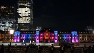 東京駅と通りのライトアップ&イルミネーション演出が楽しめた「東京ミチテラス2015」