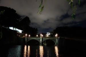 二重橋のライトアップ3