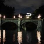 静かな空間に落ち着いたライトアップが楽しめた、二重橋のライトアップ