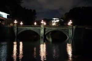 二重橋のライトアップ4