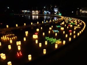 冬の夜に様々な色で彩られたロウソクのライトアップ、「HIBIYA AKARI TERRACE 2016」13