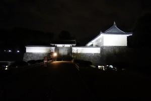 二重橋のライトアップ1