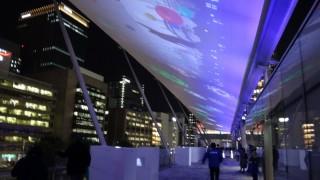 今年の演出は独特な雰囲気で魅了されました、「東京駅グランルーフ Light on Train」