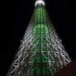 クリスマス限定ライティングの東京スカイツリー(下)