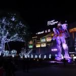 ダイバーシティー東京プラザのガンダムの夜の演出