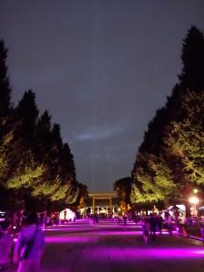 「靖国神社 秋の夜長参拝 みらいとてらす―秋を彩る九段の光―」(上)(11)