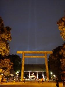 「靖国神社 秋の夜長参拝 みらいとてらす―秋を彩る九段の光―」(上)(12)