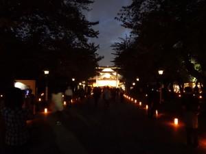 「靖国神社 秋の夜長参拝 みらいとてらす―秋を彩る九段の光―」(上)(15)