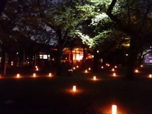「靖国神社 秋の夜長参拝 みらいとてらす―秋を彩る九段の光―」(上)(1)