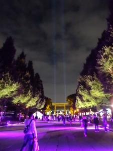「靖国神社 秋の夜長参拝 みらいとてらす―秋を彩る九段の光―」(上)(23)