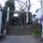 関東管領・上杉時氏なる武将が砦を築いたとされる「筑土城」(跡)