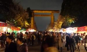 昼の桜に魅了されて、夜桜を!(下)~靖国神社~
