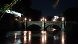 二重橋ライトアップも見てきました。