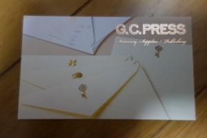 紙の店「G.C.PRESS」1