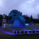 東京ミッドタウンにゴジラが出現!? 「TOKYOMIDTOWN meets GODZILLA」~ライトアップ編~