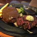 肉の万世レストランのステーキ&ハンバーグ