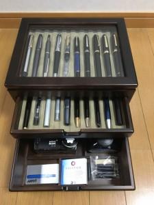 万年筆やインクを入れる箱を買いました1