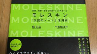 何でもノートの大きなヒントになった、『モレスキン 「伝説のノート」活用術~記録・発想・古生を刺激する75の使い方~』(堀正岳、中牟田洋子)