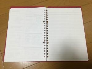 レポートパッドをリングノートにしました。3