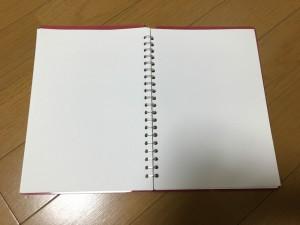 レポートパッドをリングノートにしました。5