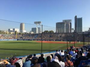 明治神宮外苑創建90年記念奉納試合「東京六大学選抜 VS 東京ヤクルトスワローズ」を観戦してきました。5