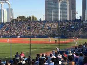 明治神宮外苑創建90年記念奉納試合「東京六大学選抜 VS 東京ヤクルトスワローズ」を観戦してきました。7