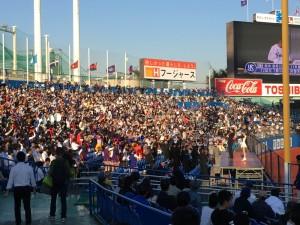 明治神宮外苑創建90年記念奉納試合「東京六大学選抜 VS 東京ヤクルトスワローズ」を観戦してきました。11