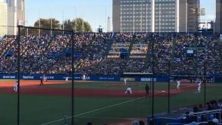 明治神宮外苑創建90年記念奉納試合「東京六大学選抜 VS 東京ヤクルトスワローズ」を観戦してきました。