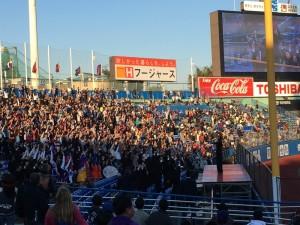 明治神宮外苑創建90年記念奉納試合「東京六大学選抜 VS 東京ヤクルトスワローズ」を観戦してきました。15