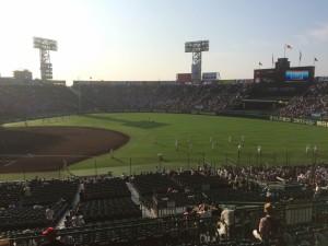「第97回全国高校野球選手権大会」を見に行ってきました!(12)~第3日:第1試合「早稲田実VS今治西」(上)~(14)