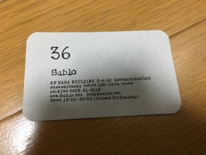 お店「36(Sublo)」4