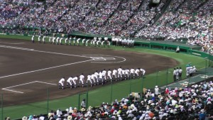 「第97回全国高校野球選手権大会」を見に行ってきました!(5)~第1日:第1試合「鹿児島実VS北海」(上)~(8)