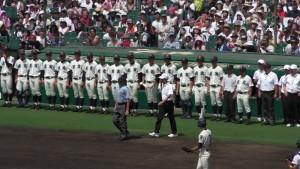 「第97回全国高校野球選手権大会」を見に行ってきました!(5)~第1日:第1試合「鹿児島実VS北海」(上)~(20)