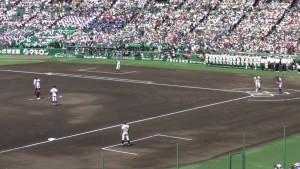 「第97回全国高校野球選手権大会」を見に行ってきました!(5)~第1日:第1試合「鹿児島実VS北海」(上)~(22)