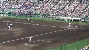 「第97回全国高校野球選手権大会」を見に行ってきました!(5)~第1日:第1試合「鹿児島実VS北海」(上)~(16)