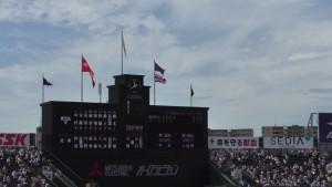 「第97回全国高校野球選手権大会」を見に行ってきました!(5)~第1日:第1試合「鹿児島実VS北海」(上)~(40)