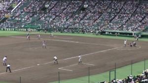 「第97回全国高校野球選手権大会」を見に行ってきました!(5)~第1日:第1試合「鹿児島実VS北海」(下)~(5)