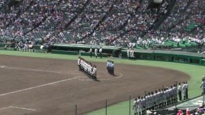 「第97回全国高校野球選手権大会」を見に行ってきました!(5)~第1日:第1試合「鹿児島実VS北海」(下)~(11)