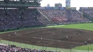 「第97回全国高校野球選手権大会」を見に行ってきました!(12)~第3日:第1試合「早稲田実VS今治西」(上)~(34)