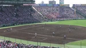 「第97回全国高校野球選手権大会」を見に行ってきました!(12)~第3日:第1試合「早稲田実VS今治西」(上)~(38)