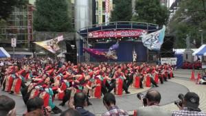 「第16回 東京よさこい」~10月10日:前夜祭:池袋西口公園(下)~(2)10