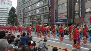 「第16回 東京よさこい」~10月10日:前夜祭:アゼリア通り(下)~(4)11