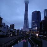 七夕ライトアップの東京スカイツリー