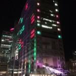 フジテレビ建物の夜の演出